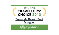 Freestyle Resort Port Douglas Travellers Choice Award 2013