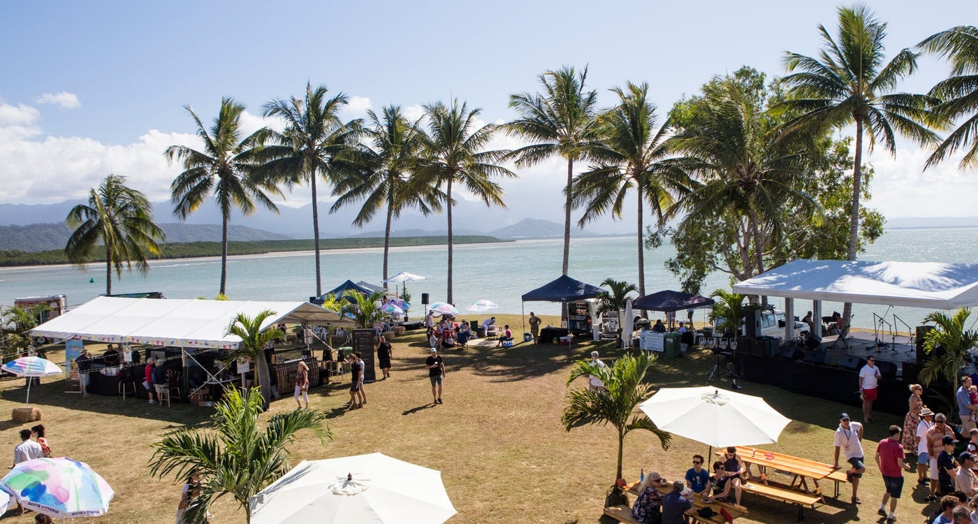 local food tasting by the foreshore