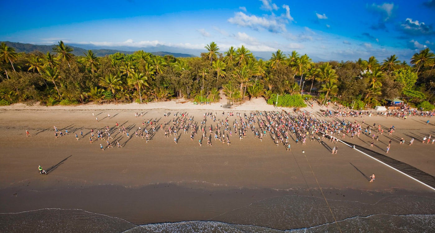 aerial beach image four mile beach port douglas