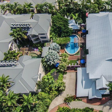 Freestyle Port Douglas Resort accommodation aerial view 3