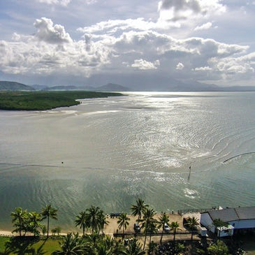 accommodation port douglas freestyle resorts aerial view over the beachfront